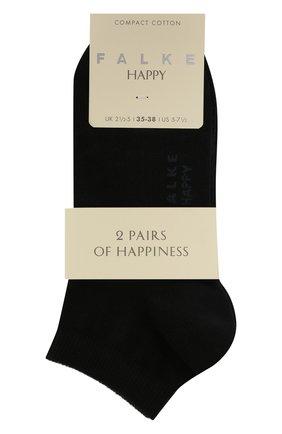 Женские комплект из двух пар носков FALKE темно-синего цвета, арт. 46418 (2 шт) | Фото 1 (Материал внешний: Хлопок)