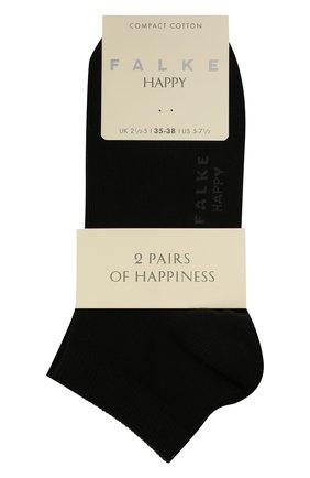 Женские комплект из двух пар носков FALKE черного цвета, арт. 46418 (2 шт) | Фото 1 (Материал внешний: Хлопок)