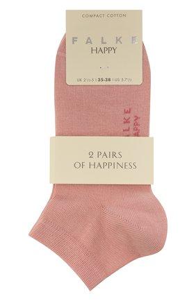 Женские комплект из двух пар носков FALKE розового цвета, арт. 46418 (2 шт) | Фото 1 (Материал внешний: Хлопок)