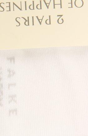 Женские комплект из двух пар носков FALKE белого цвета, арт. 46418 | Фото 2 (Материал внешний: Хлопок)
