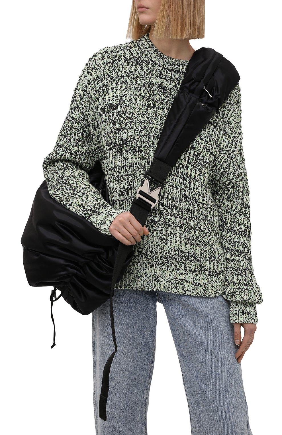 Женский комплект из сумки-шопер и поясной сумки BOTTEGA VENETA черного цвета, арт. 658755/V00R1 | Фото 2 (Сумки-технические: Сумки-шопперы; Материал: Текстиль; Размер: large)