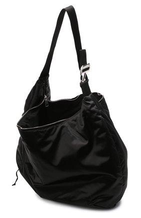 Женский комплект из сумки-шопер и поясной сумки BOTTEGA VENETA черного цвета, арт. 658755/V00R1 | Фото 4 (Сумки-технические: Сумки-шопперы; Материал: Текстиль; Размер: large)