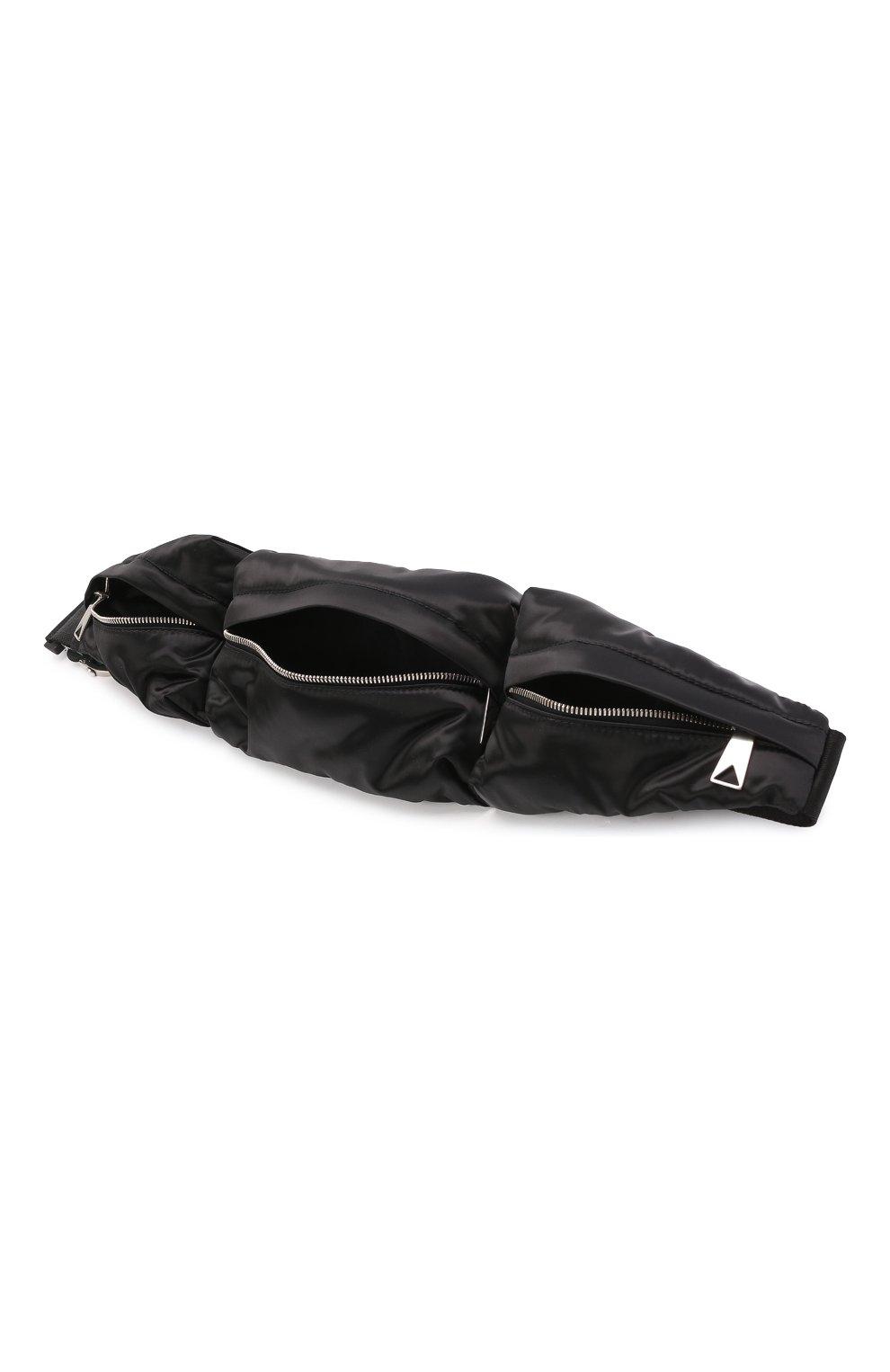 Женский комплект из сумки-шопер и поясной сумки BOTTEGA VENETA черного цвета, арт. 658755/V00R1 | Фото 8 (Сумки-технические: Сумки-шопперы; Материал: Текстиль; Размер: large)