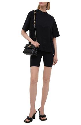 Женские шорты OFF-WHITE черного цвета, арт. 0WVH009V21JER001 | Фото 2
