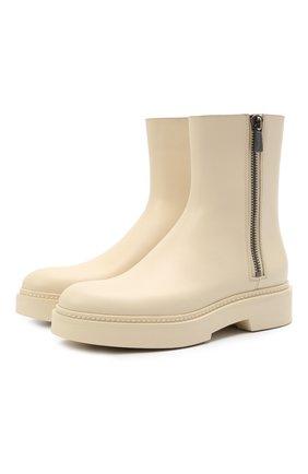 Женские кожаные ботинки SANTONI кремвого цвета, арт. WTHW59519TISNU0RE45 | Фото 1