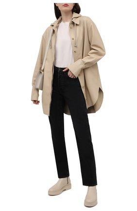Женские кожаные ботинки SANTONI кремвого цвета, арт. WTHW59519TISNU0RE45 | Фото 2