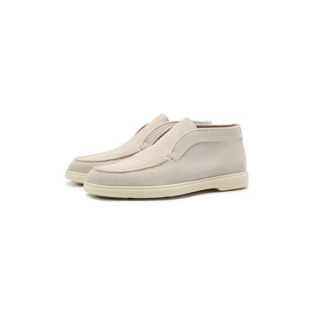Замшевые ботинки Santoni