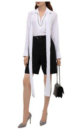 Женские текстильные туфли gianvito 105 GIANVITO ROSSI серого цвета, арт. G28470.15RIC.M0CACCI | Фото 2