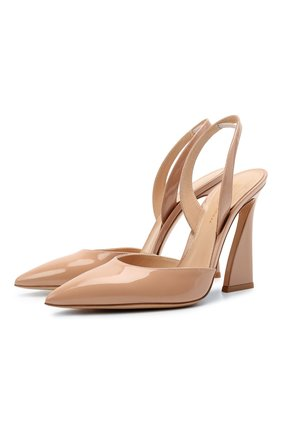 Женские кожаные туфли GIANVITO ROSSI бежевого цвета, арт. G95241.15RIC.VERPEAH | Фото 1