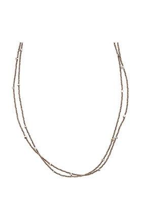 Женское колье BRUNELLO CUCINELLI коричневого цвета, арт. MB0W9LB56P/M   Фото 2