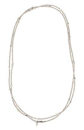 Женское колье BRUNELLO CUCINELLI серебряного цвета, арт. MB0W9LV56P/M   Фото 1
