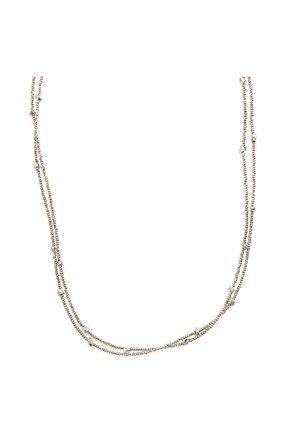 Женское колье BRUNELLO CUCINELLI серебряного цвета, арт. MB0W9LV56P/M   Фото 2