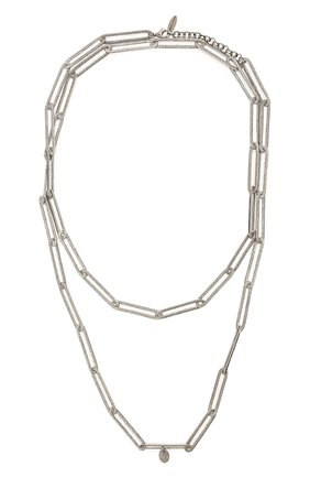 Женское колье BRUNELLO CUCINELLI серебряного цвета, арт. MC0W9V018P   Фото 1