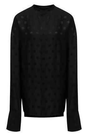 Женская блузка из вискозы и шелка HAIDER ACKERMANN черного цвета, арт. 213-3602-256 | Фото 1