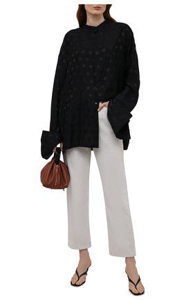 Женская блузка из вискозы и шелка HAIDER ACKERMANN черного цвета, арт. 213-3602-256 | Фото 2