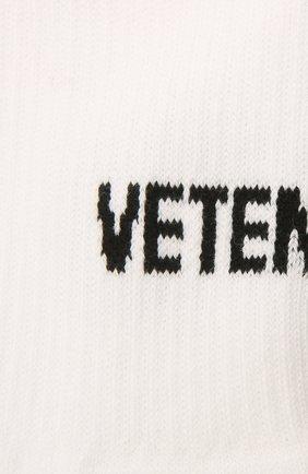 Мужские хлопковые носки VETEMENTS белого цвета, арт. UA52S0200W 2906/M | Фото 2
