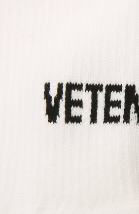 Женские хлопковые носки VETEMENTS белого цвета, арт. UA52S0200W 2906/W | Фото 2