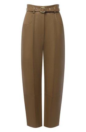 Женские кожаные брюки PETAR PETROV бежевого цвета, арт. P0LLIS B SR21HL3 | Фото 1