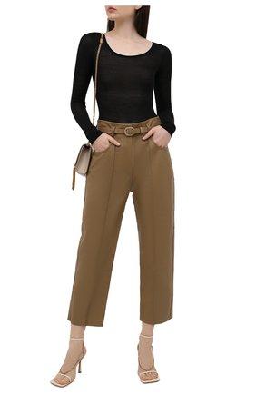 Женские кожаные брюки PETAR PETROV бежевого цвета, арт. P0LLIS B SR21HL3 | Фото 2
