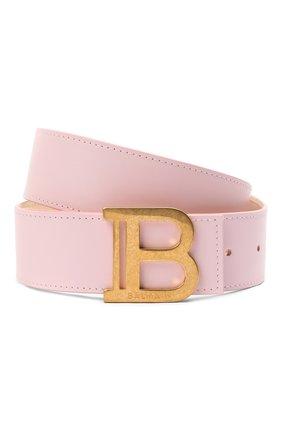 Женский кожаный ремень BALMAIN розового цвета, арт. WN1WJ002/LVTL | Фото 1