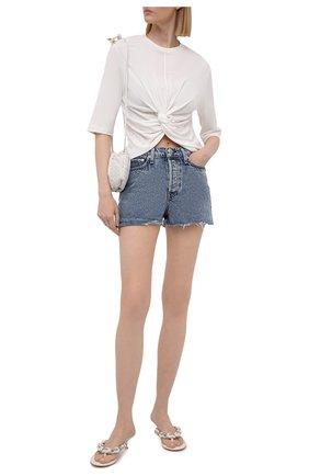 Женские джинсовые шорты RAG&BONE голубого цвета, арт. WDD21S1914B1CA | Фото 2