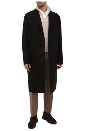 Мужские замшевые ботинки SANTONI темно-коричневого цвета, арт. MGDG17823DATKSVUT50   Фото 2