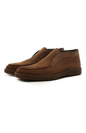 Мужские замшевые ботинки SANTONI коричневого цвета, арт. MGDG17823SSTKSVUS50   Фото 1