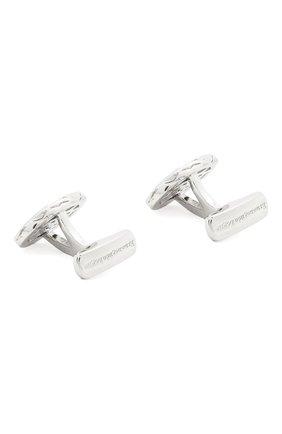 Мужские серебряные запонки ERMENEGILDO ZEGNA серебряного цвета, арт. ZCL1076 | Фото 2 (Стили: Классический; Материал: Металл)
