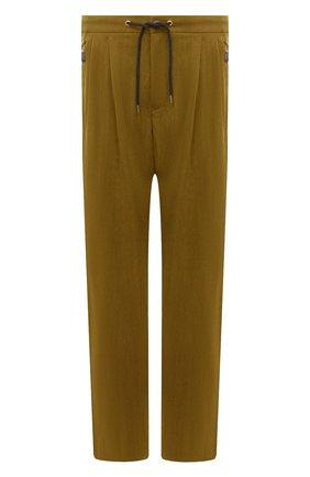 Мужские брюки GIORGIO ARMANI хаки цвета, арт. 1WGPP0JA/T02P0 | Фото 1