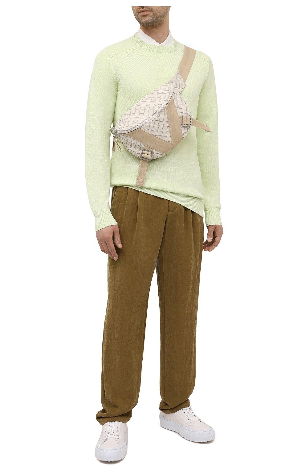 Мужские брюки GIORGIO ARMANI хаки цвета, арт. 1WGPP0JA/T02P0 | Фото 2