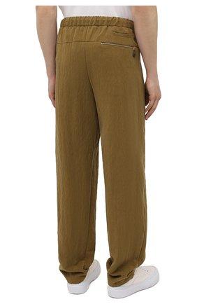 Мужские брюки GIORGIO ARMANI хаки цвета, арт. 1WGPP0JA/T02P0 | Фото 4
