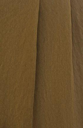 Мужские брюки GIORGIO ARMANI хаки цвета, арт. 1WGPP0JA/T02P0 | Фото 5