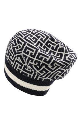 Мужская шерстяная шапка BALMAIN темно-синего цвета, арт. WH1XC000/K036 | Фото 2