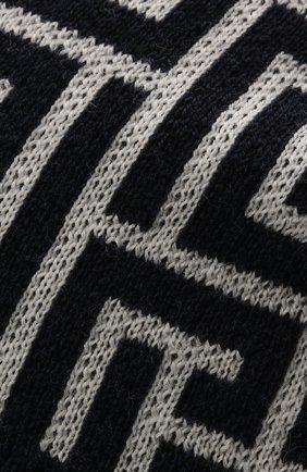 Мужская шерстяная шапка BALMAIN темно-синего цвета, арт. WH1XC000/K036   Фото 3 (Материал: Шерсть; Кросс-КТ: Трикотаж)