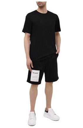 Мужские хлопковые шорты RELIGION черного цвета, арт. 11PBTP80   Фото 2
