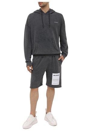 Мужской хлопковое худи RELIGION темно-серого цвета, арт. 11TAPJ80   Фото 2