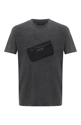 Мужская хлопковая футболка RELIGION темно-серого цвета, арт. 11TDTN96   Фото 1
