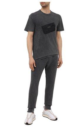 Мужская хлопковая футболка RELIGION темно-серого цвета, арт. 11TDTN96   Фото 2