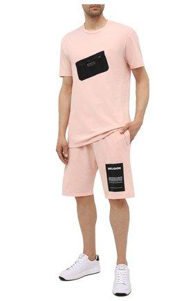Мужская хлопковая футболка RELIGION розового цвета, арт. 11TDTN96 | Фото 2