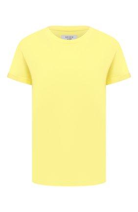 Женская хлопковая футболка SEVEN LAB желтого цвета, арт. T20-WINGS G-yellow   Фото 1