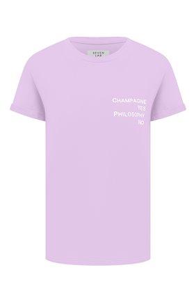 Женская хлопковая футболка SEVEN LAB сиреневого цвета, арт. T20-CYPN lavender   Фото 1
