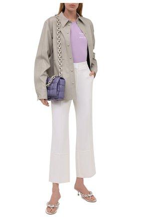 Женская хлопковая футболка SEVEN LAB сиреневого цвета, арт. T20-CYPN lavender   Фото 2