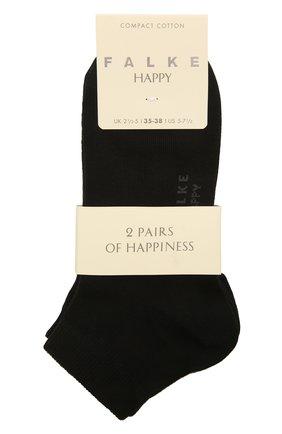 Женские комплект из двух пар носков FALKE черного цвета, арт. 46418 | Фото 1 (Материал внешний: Хлопок)