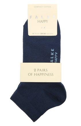 Женские комплект из двух пар носков FALKE синего цвета, арт. 46418 | Фото 1 (Материал внешний: Хлопок)