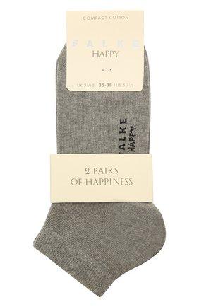 Женские комплект из двух пар носков FALKE светло-серого цвета, арт. 46418 | Фото 1 (Материал внешний: Хлопок)