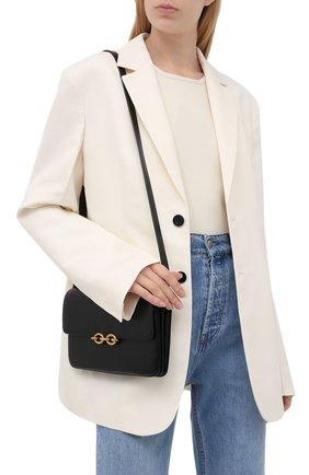 Женская сумка maillon SAINT LAURENT черного цвета, арт. 649795/2R20W | Фото 2 (Сумки-технические: Сумки через плечо; Материал: Натуральная кожа; Ремень/цепочка: На ремешке; Размер: small)