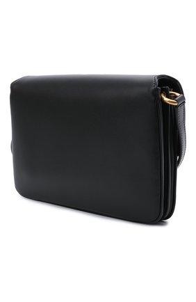 Женская сумка maillon SAINT LAURENT черного цвета, арт. 649795/2R20W | Фото 3 (Сумки-технические: Сумки через плечо; Материал: Натуральная кожа; Ремень/цепочка: На ремешке; Размер: small)