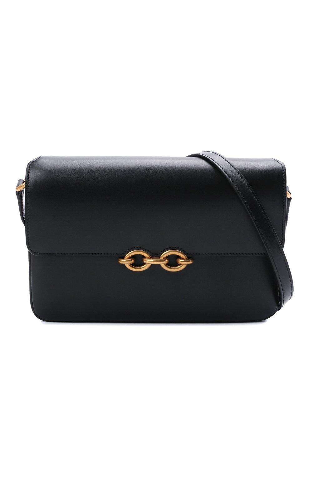 Женская сумка maillon SAINT LAURENT черного цвета, арт. 649795/2R20W | Фото 5 (Сумки-технические: Сумки через плечо; Материал: Натуральная кожа; Ремень/цепочка: На ремешке; Размер: small)