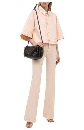 Женские хлопковые брюки BOTTEGA VENETA светло-розового цвета, арт. 654286/V0W30 | Фото 2