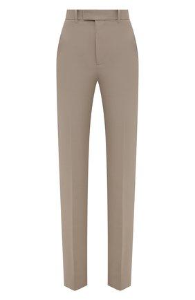 Женские хлопковые брюки BOTTEGA VENETA бежевого цвета, арт. 657740/V0BT0 | Фото 1